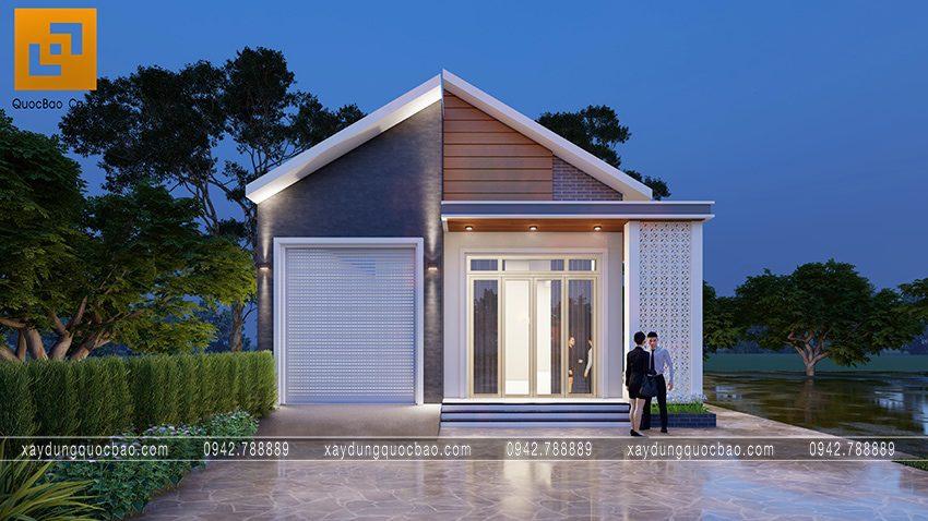 Nhà mái lệch 1 tầng độc đáo tại Vĩnh Cửu - Ảnh 5