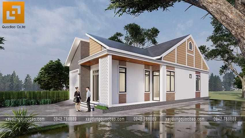 Nhà mái lệch 1 tầng độc đáo tại Vĩnh Cửu - Ảnh 2