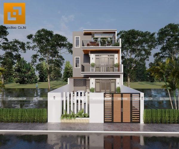 Nhà 2 tầng mặt tiền 8m tại Tân An, Vĩnh Cửu của gia đình chú Thanh