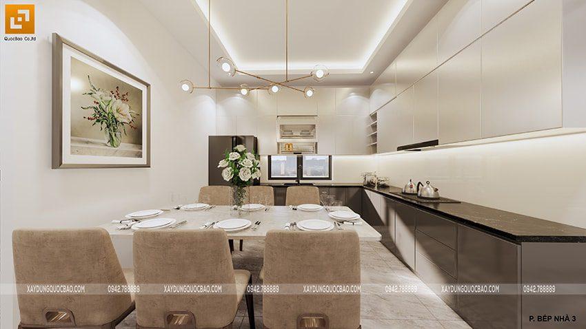 Phòng bếp nhà mái thái