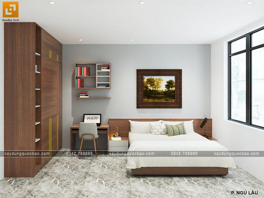 Phòng ngủ master của vợ chồng gia chủ