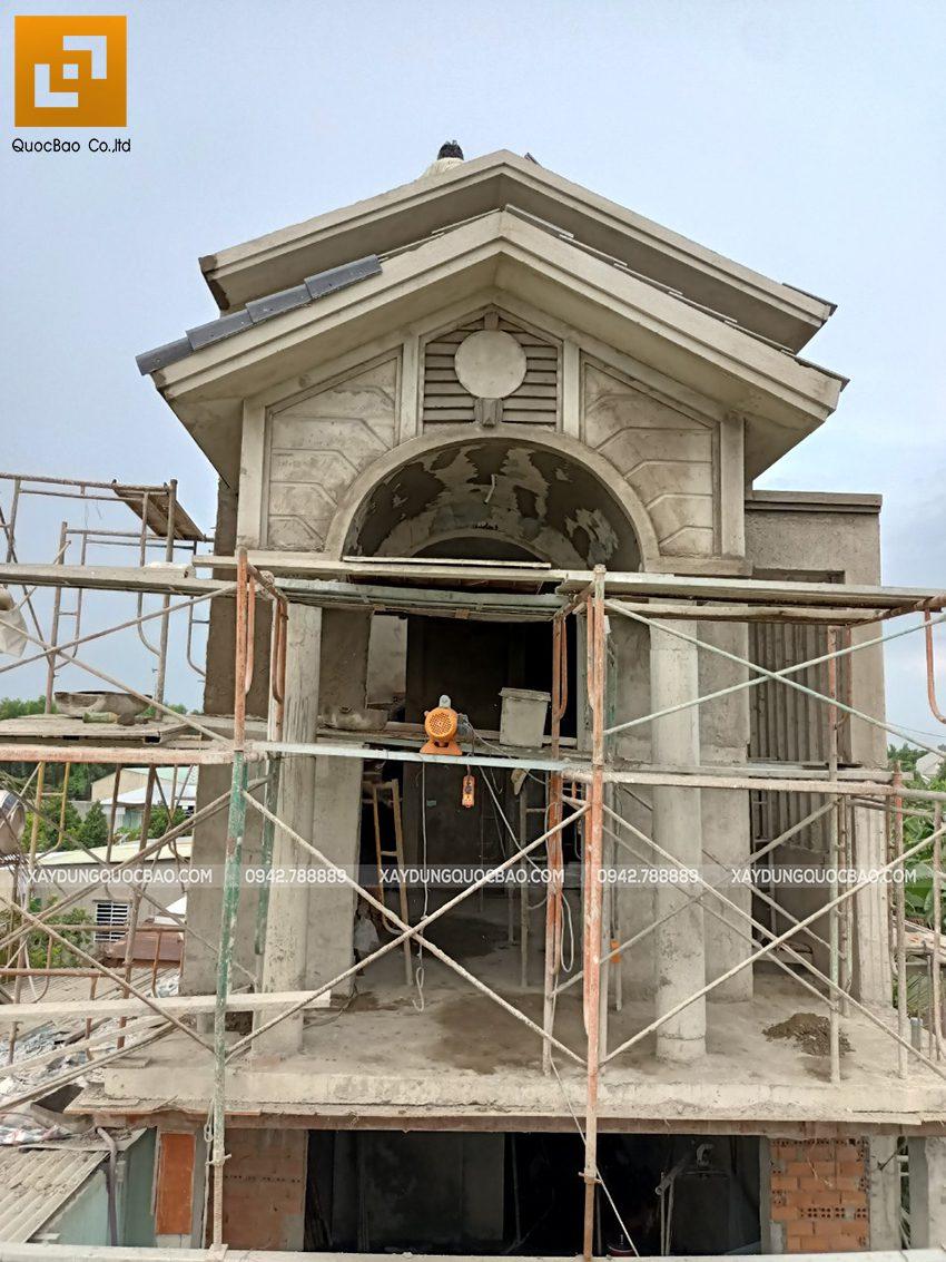Thi công hoàn thiện nhà mái thái 2 tầng - Ảnh 4
