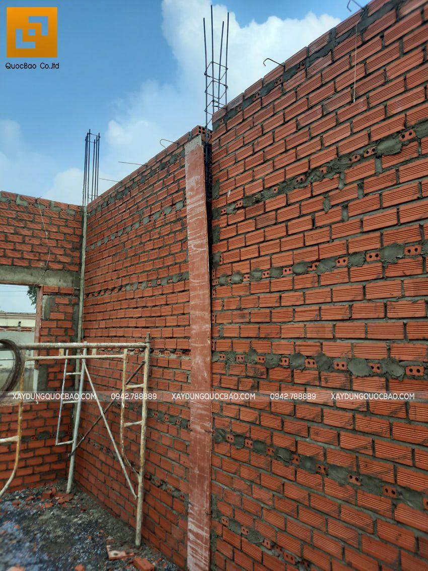 Thi công phần thô tầng trệt biệt thự mái Nhật - Ảnh 3