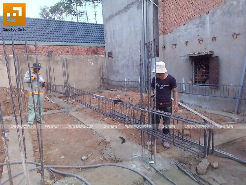 Thi công phần thô Biệt thự 2 tầng tại Trảng Bom - Ảnh 9