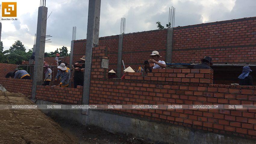 Thi công phần thô nhà 3 tầng mặt tiền 5m tại Bình Dương - Ảnh 9