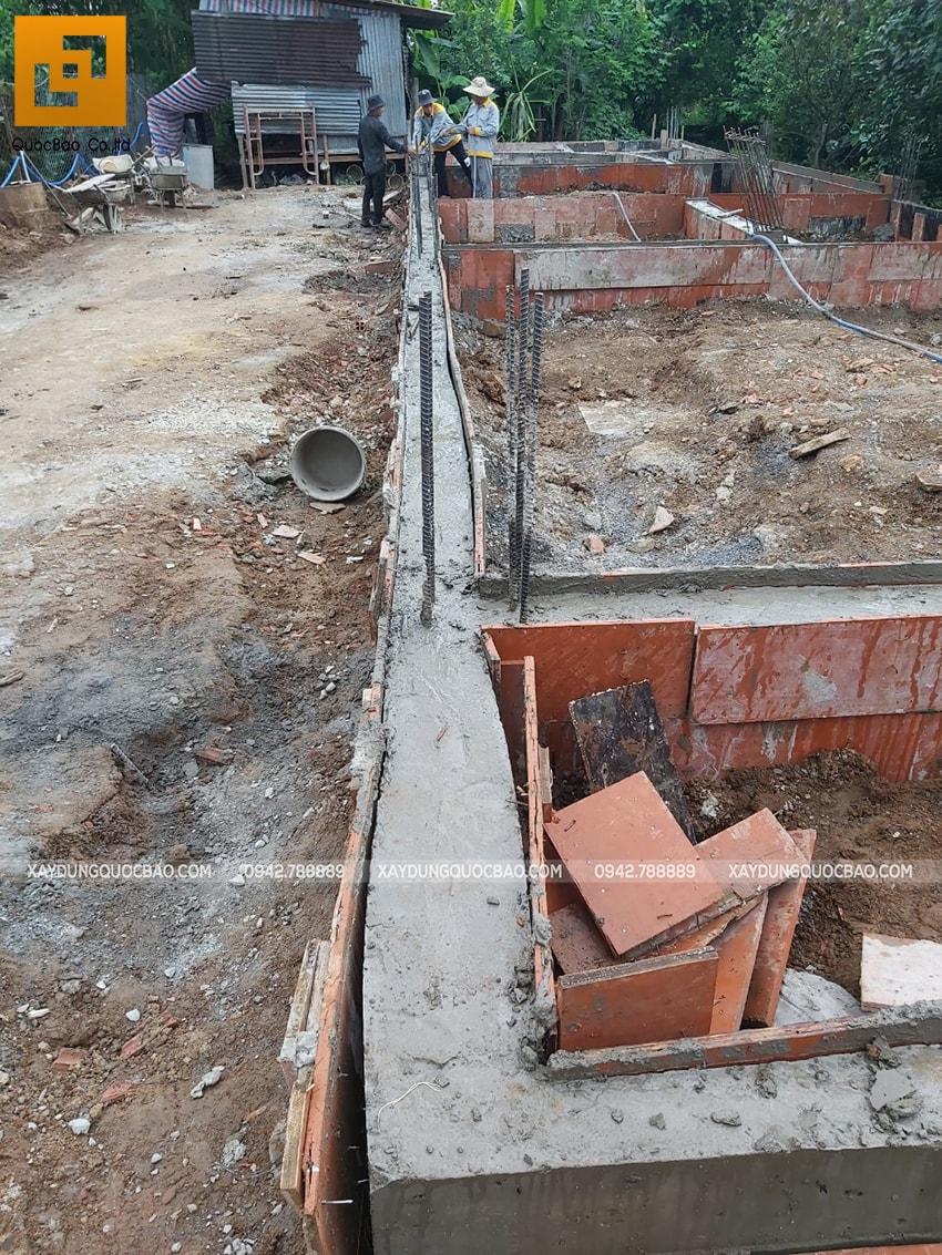 Thi công phần thô nhà 3 tầng mặt tiền 5m tại Bình Dương - Ảnh 5
