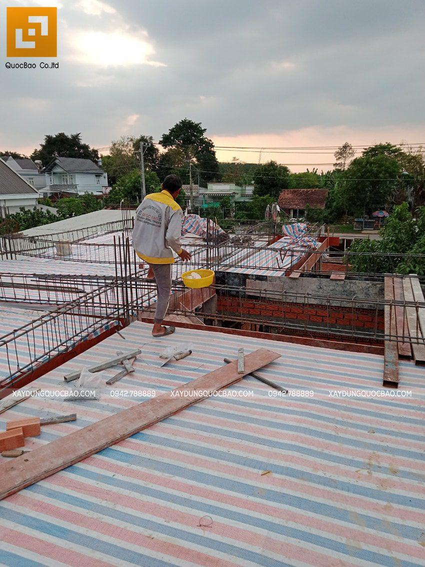 Thi công phần thô nhà 3 tầng tại Vĩnh Cửu - Ảnh 14