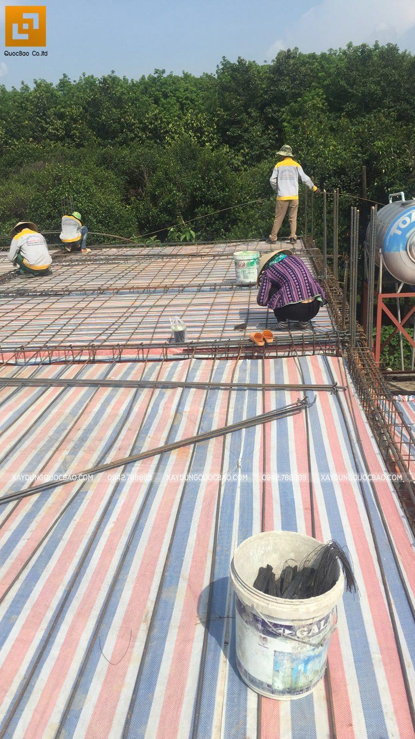 Thi công phần thô nhà 3 tầng tại Vĩnh Cửu - Ảnh 15