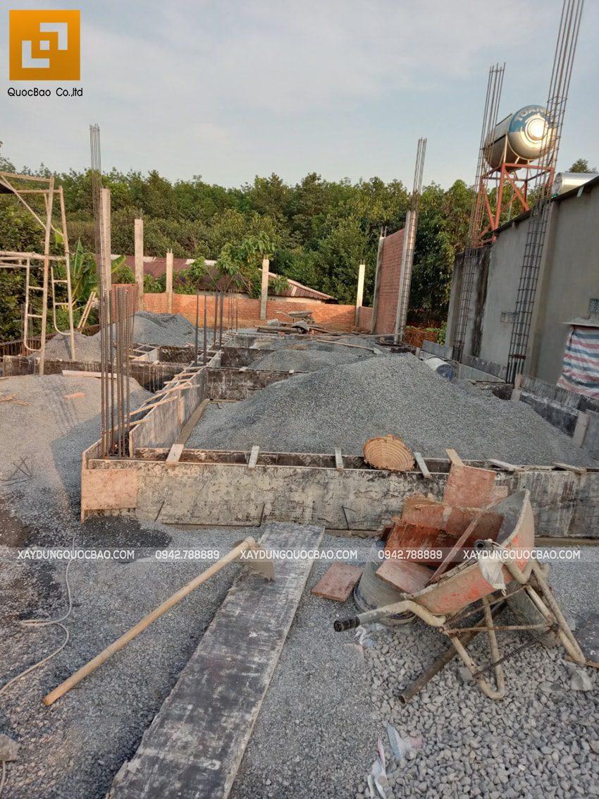 Thi công phần thô nhà 3 tầng tại Vĩnh Cửu - Ảnh 2