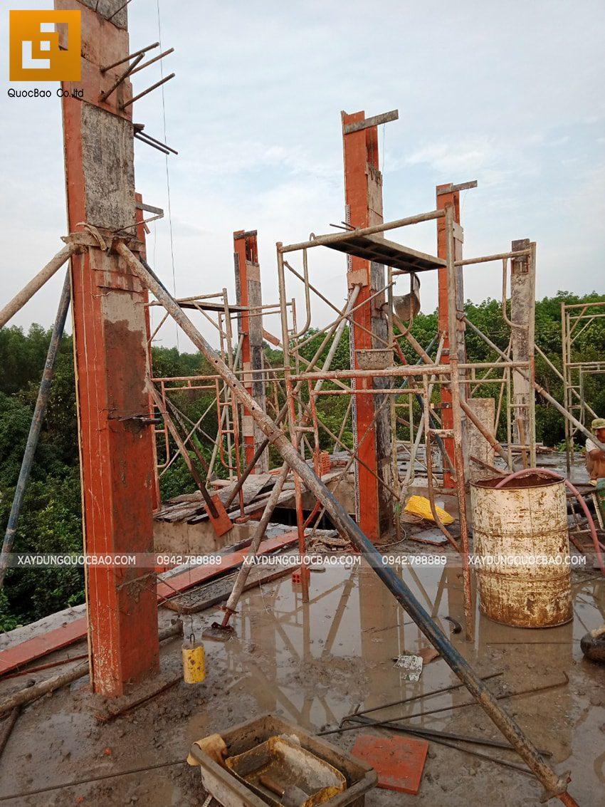 Thi công phần thô nhà 3 tầng tại Vĩnh Cửu - Ảnh 21