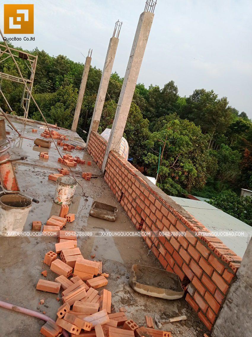 Thi công phần thô nhà 3 tầng tại Vĩnh Cửu - Ảnh 22