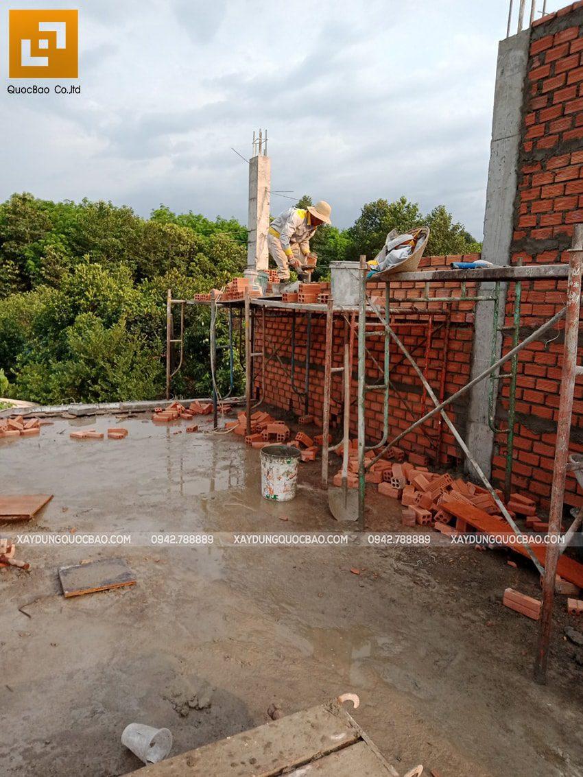 Thi công phần thô nhà 3 tầng tại Vĩnh Cửu - Ảnh 23
