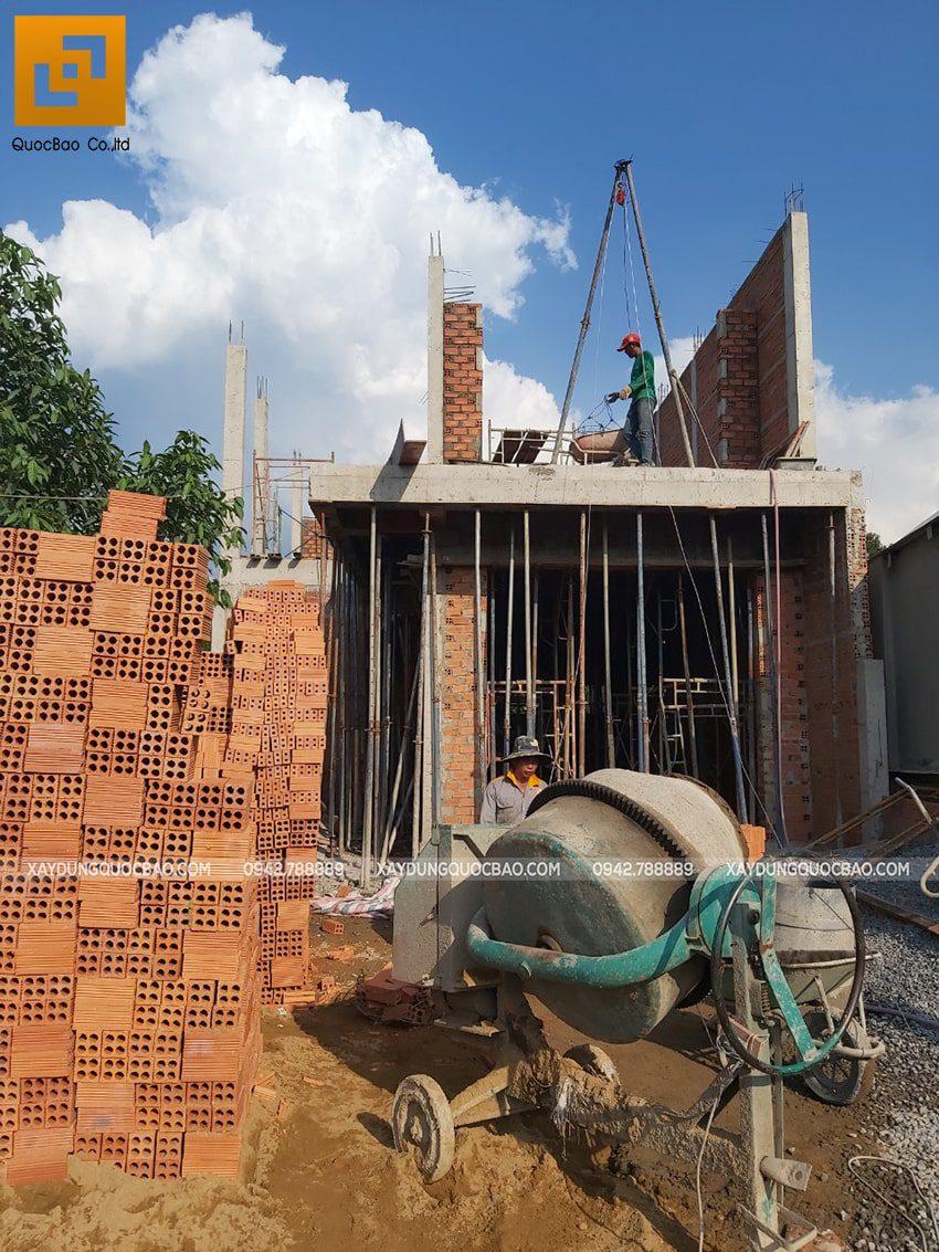 Thi công phần thô nhà 3 tầng tại Vĩnh Cửu - Ảnh 27