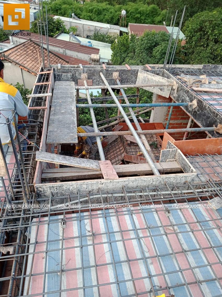 Thi công phần thô nhà 3 tầng tại Vĩnh Cửu - Ảnh 35