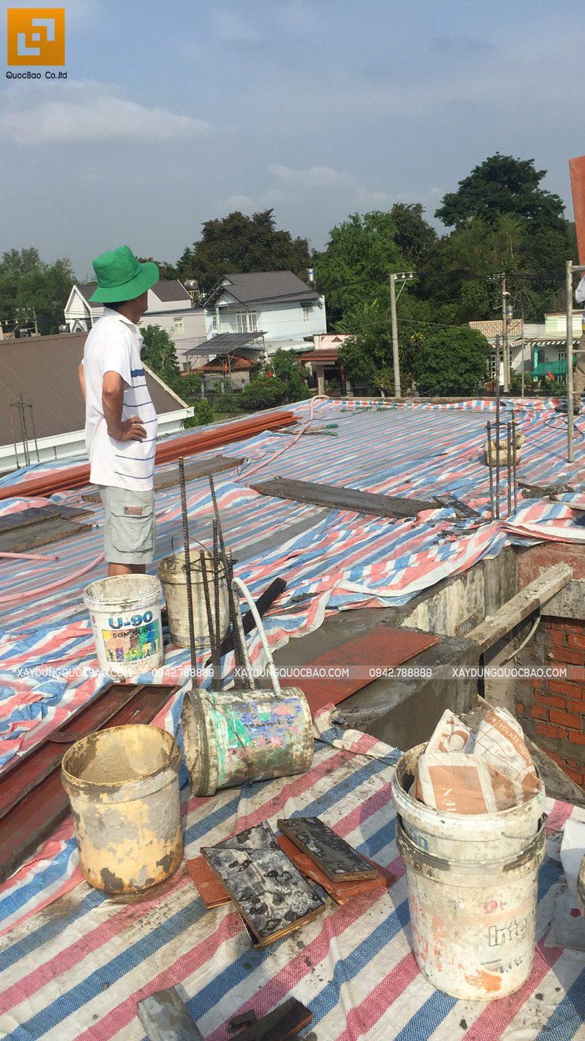 Thi công phần thô nhà 3 tầng tại Vĩnh Cửu - Ảnh 37