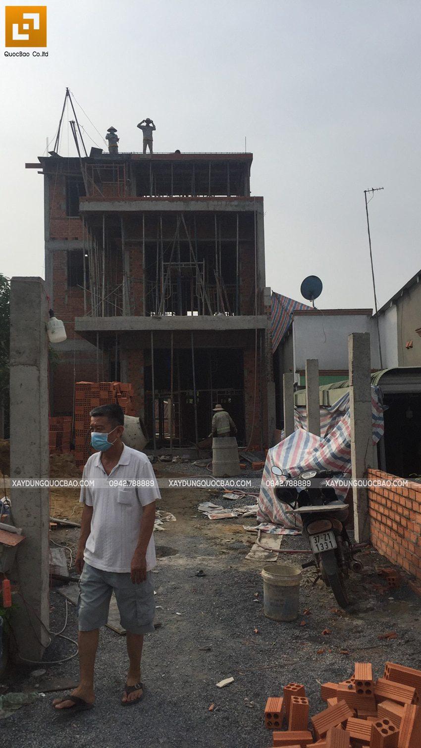 Thi công phần thô nhà 3 tầng tại Vĩnh Cửu - Ảnh 42