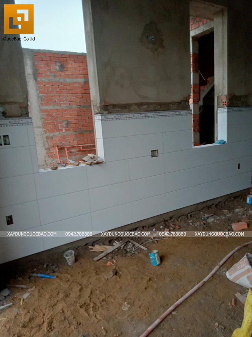 Thi công phần hoàn thiện nhà phố tại Vĩnh Cửu - Ảnh 2