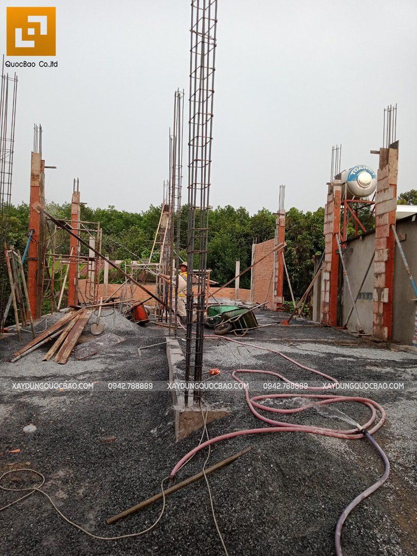 Thi công phần thô nhà 3 tầng tại Vĩnh Cửu - Ảnh 5