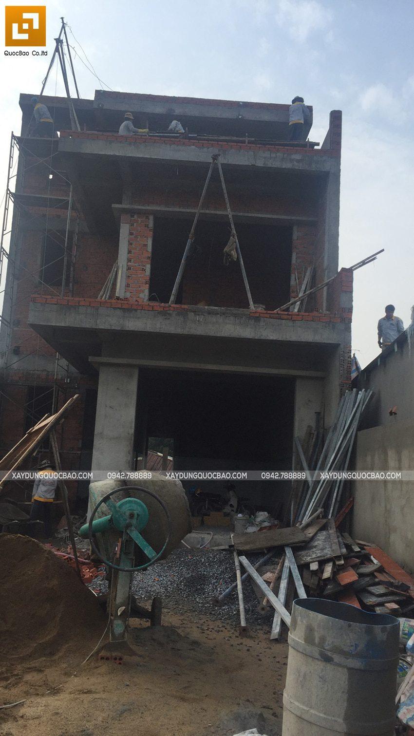 Thi công phần thô nhà 3 tầng tại Vĩnh Cửu - Ảnh 46