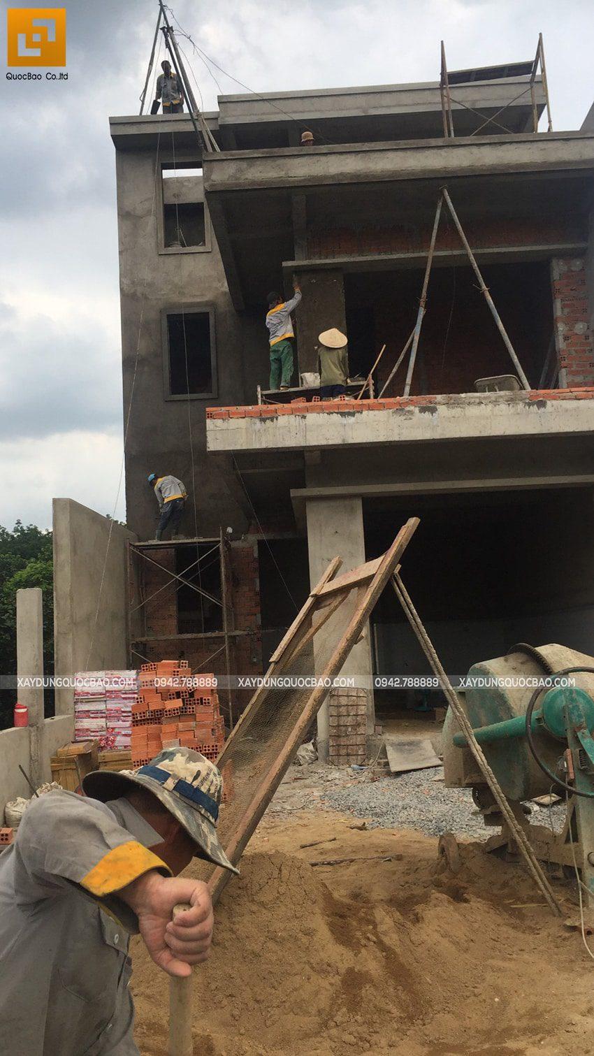Thi công phần thô nhà 3 tầng tại Vĩnh Cửu - Ảnh 49