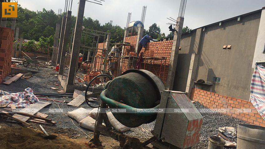 Thi công phần thô nhà 3 tầng tại Vĩnh Cửu - Ảnh 6