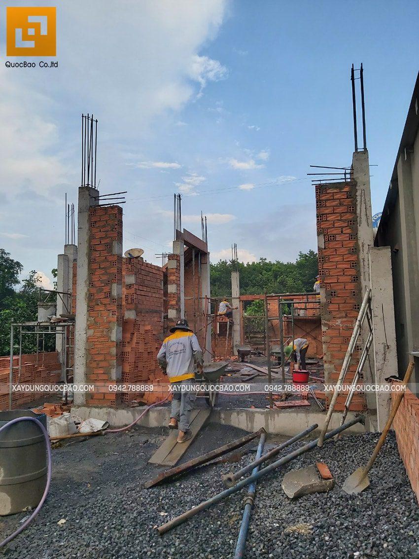 Thi công phần thô nhà 3 tầng tại Vĩnh Cửu - Ảnh 8