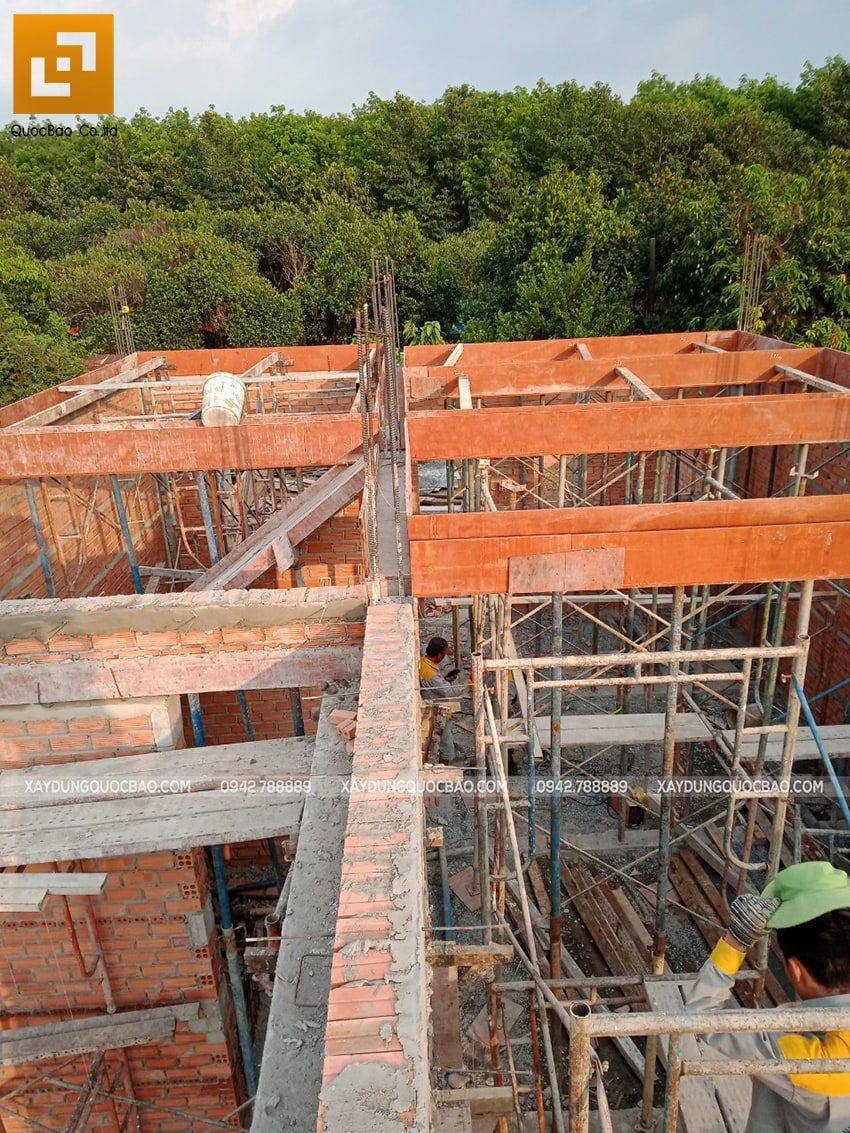 Thi công phần thô nhà 3 tầng tại Vĩnh Cửu - Ảnh 9