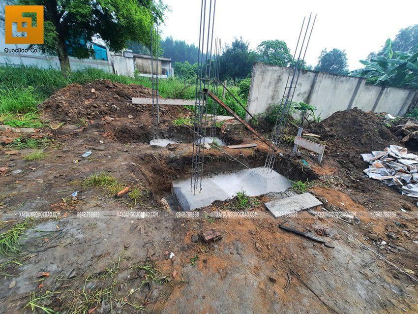 Thi công phần thô nhà mái lệch 1 tầng tại Vĩnh Cửu - Ảnh 2