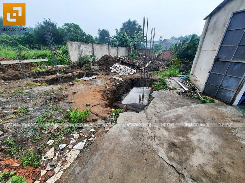 Thi công phần thô nhà mái lệch 1 tầng tại Vĩnh Cửu - Ảnh 1