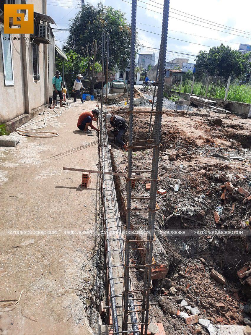 Thi công phần thô nhà mái lệch 1 tầng tại Vĩnh Cửu - Ảnh 9