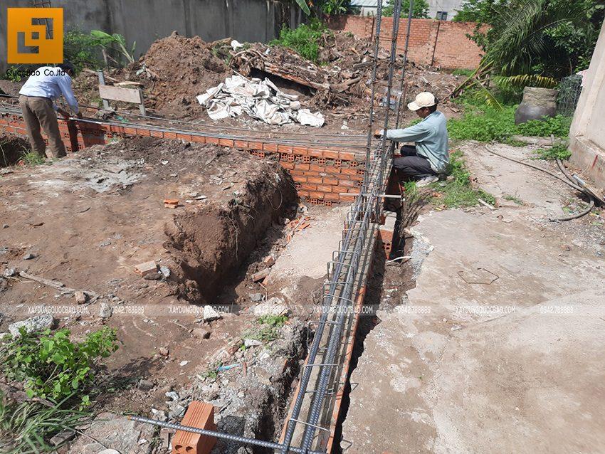 Thi công phần thô nhà mái lệch 1 tầng tại Vĩnh Cửu - Ảnh 8