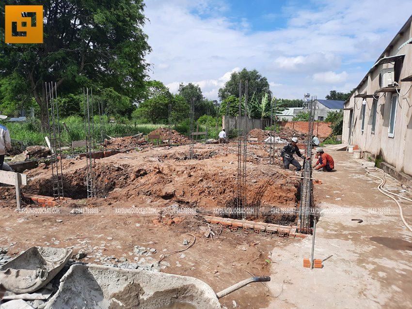 Thi công phần thô nhà mái lệch 1 tầng tại Vĩnh Cửu - Ảnh 7