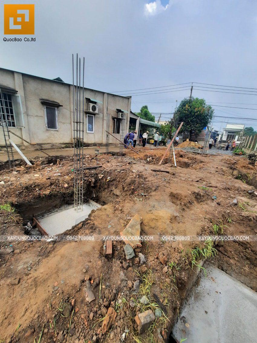 Thi công phần thô nhà mái lệch 1 tầng tại Vĩnh Cửu - Ảnh 6