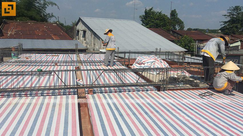 Thi công phần thô nhà mái Nhật tại Bình Dương - Ảnh 16