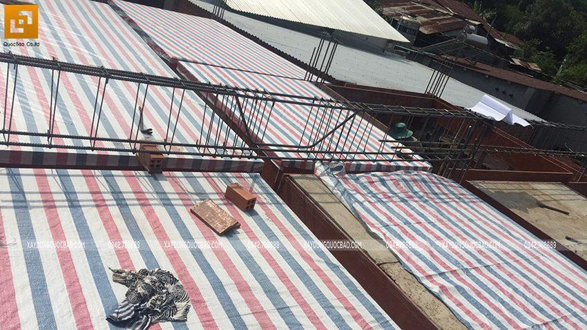 Thi công phần thô nhà mái Nhật tại Bình Dương - Ảnh 15