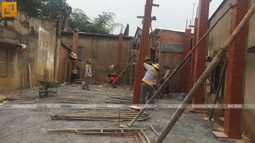 Thi công phần thô nhà mái Nhật tại Bình Dương - Ảnh 12