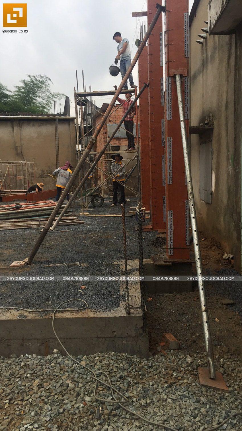 Thi công phần thô nhà mái Nhật tại Bình Dương - Ảnh 11