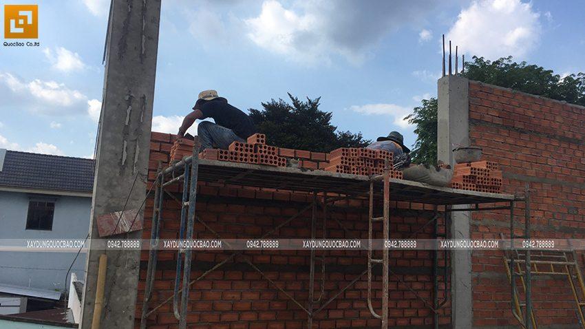 Thi công phần thô nhà mái Nhật tại Bình Dương - Ảnh 20