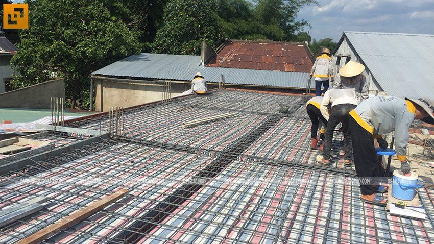 Thi công phần thô nhà mái Nhật tại Bình Dương - Ảnh 18