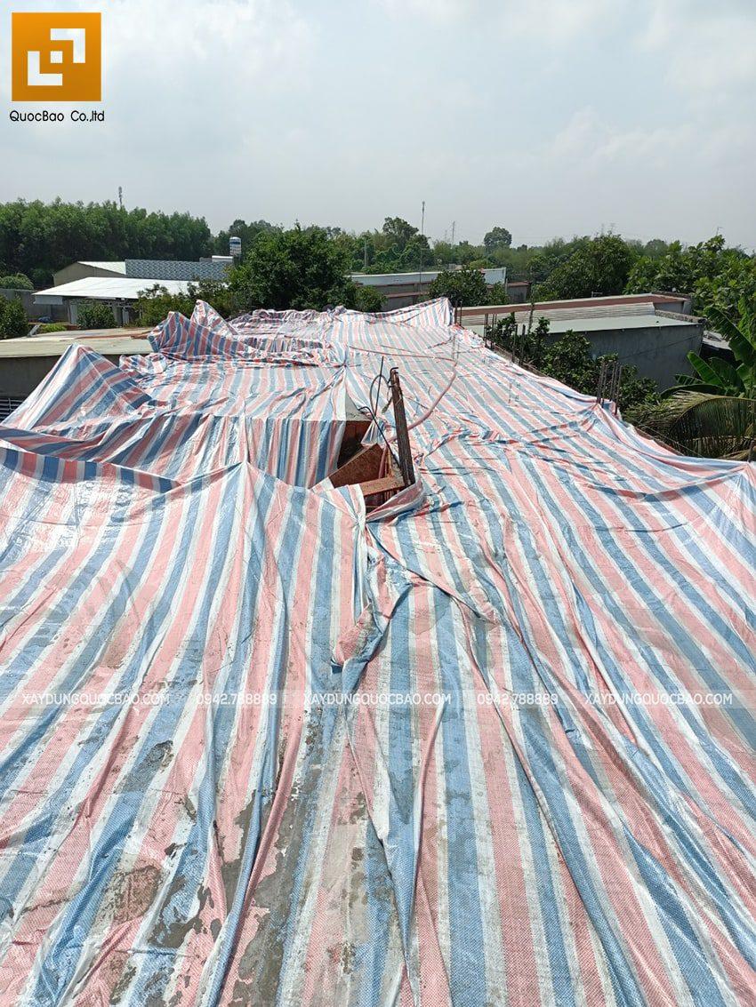 Thi công phần thô lầu 1 nhà mái thái tại Bình Dương - Ảnh 5