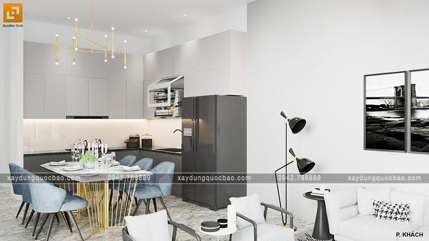 Bố trí bàn ăn trong không gian nhà bếp