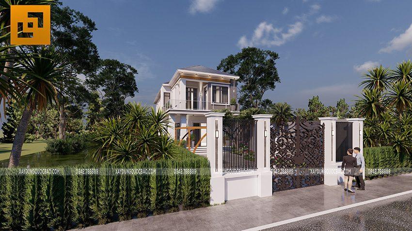 Phối cảnh thiết kế biệt thự hiện đại 2 tầng anh Điển chị Linh tại Vĩnh Cửu - Ảnh 5