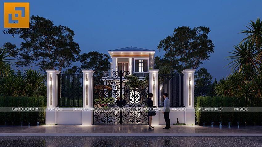 Phối cảnh thiết kế biệt thự hiện đại 2 tầng anh Điển chị Linh tại Vĩnh Cửu - Ảnh 8
