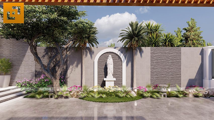 Phối cảnh thiết kế biệt thự hiện đại 2 tầng anh Điển chị Linh tại Vĩnh Cửu - Ảnh 7