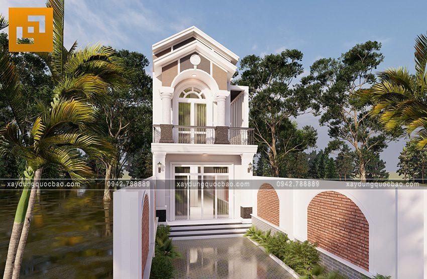 Phối cảnh ngoại thất căn nhà mái thái 2 tầng tại Bình Dương - Ảnh 1