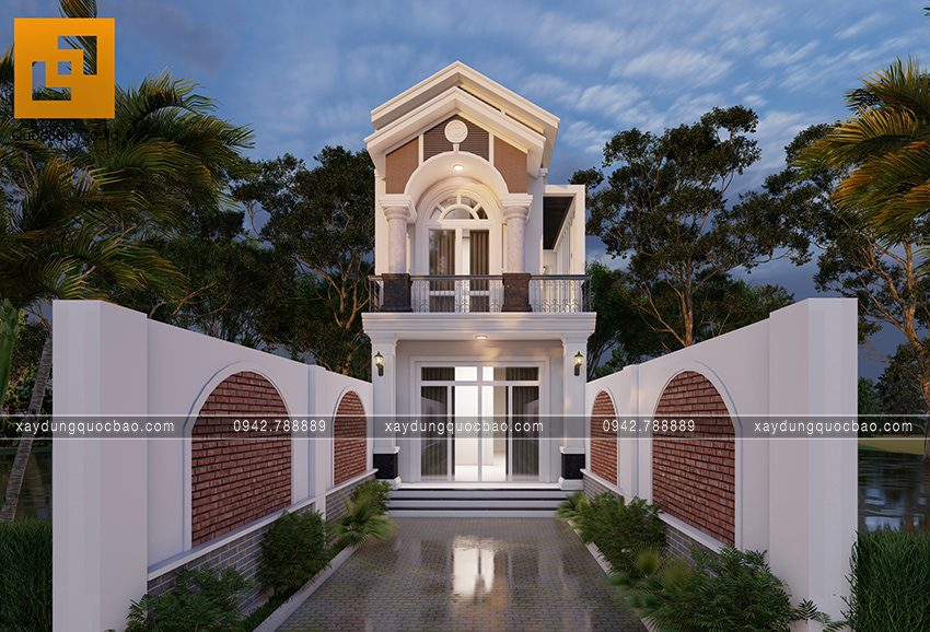 Phối cảnh ngoại thất căn nhà mái thái 2 tầng tại Bình Dương - Ảnh 6