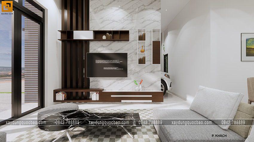 Phòng khách đầy đủ tiện nghi