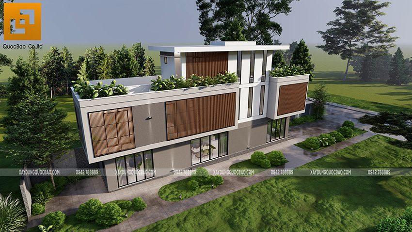 Biệt thự 3 tầng thiết kế hiện đại, độc đáo tại Bình Dương - Ảnh 5