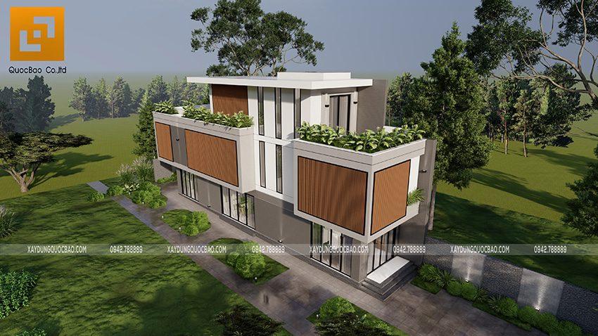 Biệt thự 3 tầng thiết kế hiện đại, độc đáo tại Bình Dương - Ảnh 3
