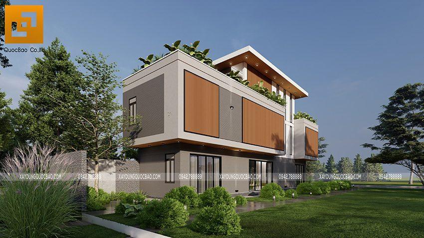 Biệt thự 3 tầng thiết kế hiện đại, độc đáo tại Bình Dương - Ảnh 2